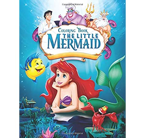 - The Little Mermaid Coloring Book: JUMBO Coloring Book For Kids Ages  2-13+: Dalton, Abigail: 9798654428066: Amazon.com: Books