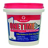 Tools & Hardware : Red Devil 0542 Onetime Lightweight Spackling, 1/2Pint, White