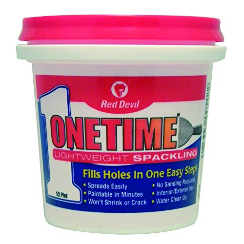 Red Devil 0542 Onetime Lightweight Spackling, 1/2Pint, White