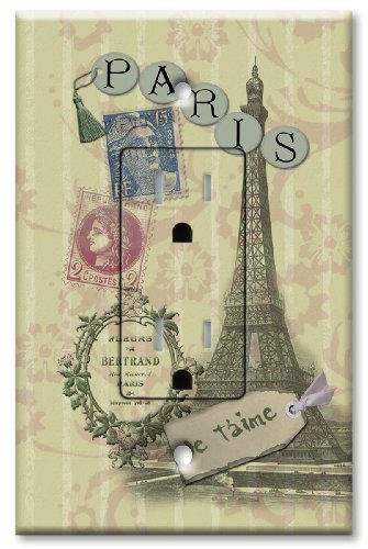 Paris Je T'aime - Printed Outlet w/ Matching Switch Plate