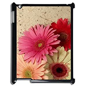 Beautiful flowers Custom Cover Case with Hard Shell Protection for Ipad2,3,4 Case lxa#877336