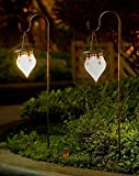 Wonderland Set of 2 : Solar light hanging with Stick / stake for garden decor, balcony decoration, home decorative item, gift, garden stick