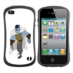 """Pulsar iFace Series Tpu silicona Carcasa Funda Case para Apple iPhone 4 / iPhone 4S , Blanca Blue Monster héroe Carácter"""""""