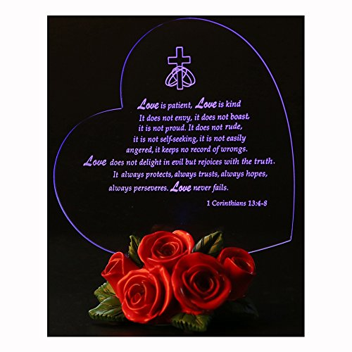 Giftgarden Friends Gifts LED Gift with Rose Heart Decor - The True Meaning of (Valentines Day Stuff)