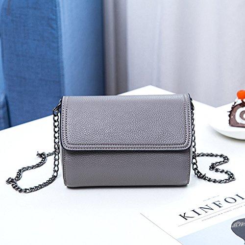 Bolsa Cadena GUANGMING77 Cuadrado Taro Bandolera Bolsa Púrpura Pequeña Única Diagonal gray Bolsa Simple Mini Cadena qddZzw