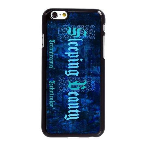 L2T61 Sleeping Beauty I5D1SJ coque iPhone 6 Plus de 5,5 pouces cas de téléphone portable couverture de coque noire KM6BBE8OX