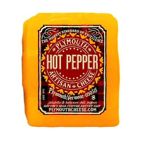 Hot Pepper Cheddar by Plymouth Artisan Cheese (8 ounce) made in Vermont