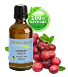 CRANBERRY SEED OIL 100% Pure / Natural. Cold Pressed / Undiluted. For Face, Hair and Body. 1 Fl.oz.- 30 ml. by Botanical Beauty