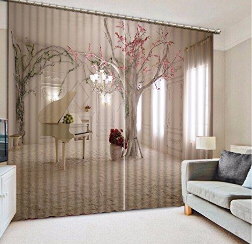 Wapel Moderne Vorhänge Die Wohnzimmer Schlafzimmer Vorhänge Einfache Baum  3D Gardinen Für Das Fenster Gedruckt 3D