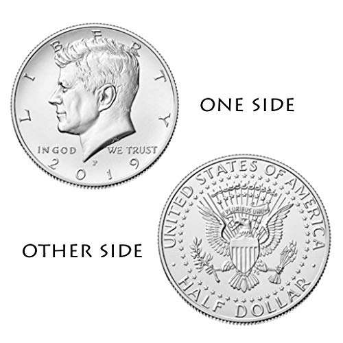 (Efaster 2019 P&D Kennedy Half Dollar Set Clad Two Sides Coins Set Uncirculated Commemorative Coin Collection Gift (Sliver))