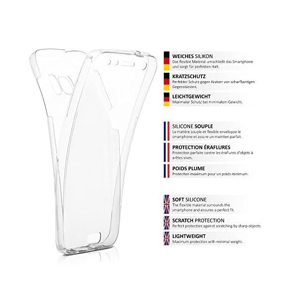 COPHONE® Funda Samsung Galaxy S5, Transparente Silicona 360°Full Body Fundas para Samsung Galaxy S5 Carcasa Silicona Funda Case. 2