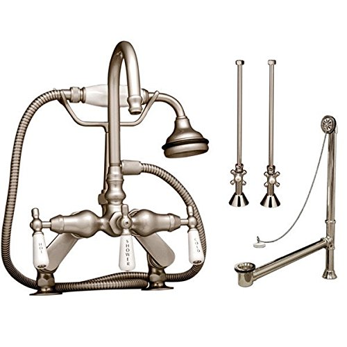 Randolph Morris Rim Mount Clawfoot Tub Faucet w/ Handshower - Complete - Rim Clawfoot Tub