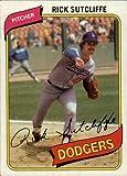 1980 Topps Baseball Rookie Card #544 Rick Sutcliffe Mint