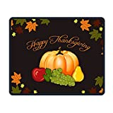 Happy-Thanksgiving-Day-Pumpkin Smooth Nice Personality Design Mobile Gaming Mouse Pad Work Mouse Pad Office Pad