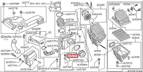 amazon com infiniti genuine air filter air duct insulator 16523 1995 Infiniti I30 amazon com infiniti genuine air filter air duct insulator 16523 31u00 q45 i30 30 i35 automotive