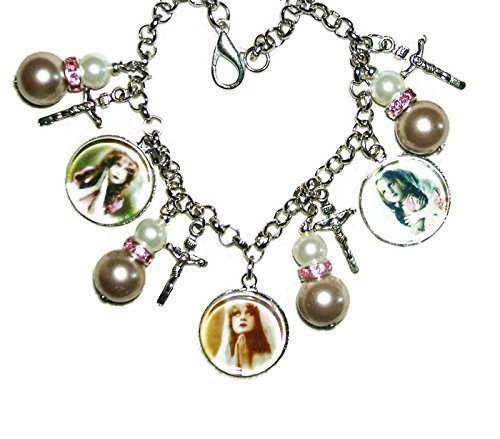 POWER OF PRAYER Charm Bracelet Altered Art Christian Religion PRAY