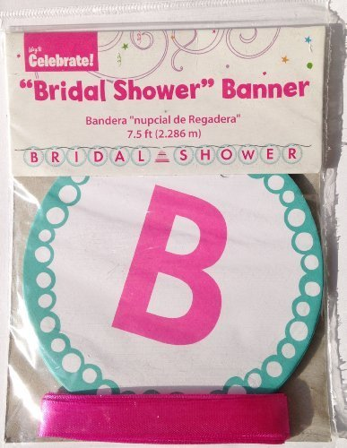 BRIDAL SHOWER Wedding & Bride Jointed Letter Party Banner Decoration (7.5 Feet Long) by Way to Celebrate