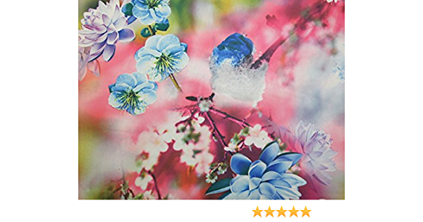 EM-DigitalGGT364-Pink-M Floral Digital Print Georgette Dress Fabric