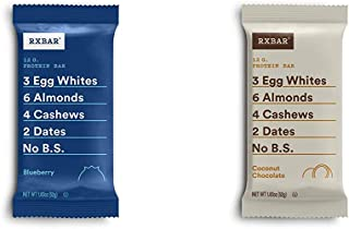 product image for RXBAR, Blueberry, Protein Bar, 1.83 Ounce Breakfast Bar with Coconut Chocolate, Protein Bar, 1.83 Ounce (12 count)