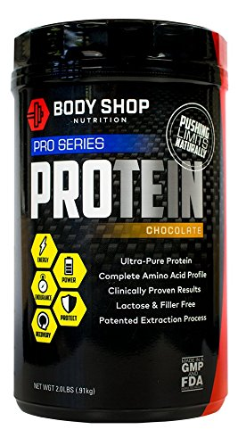 Body Shop Nutrition - Ultra Pure 100% Native Whey Pro Series Protein Powder - Cleanest Protein Available - Low Carb / Low Calorie - Chocolate - 2lbs (Amp Amplified Gold)