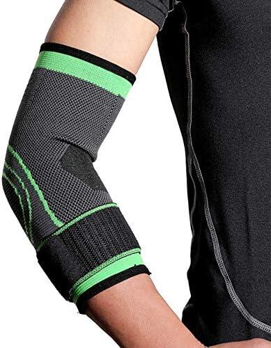 DQX 1ピース調節可能な肘サポートブレースプロテクター包帯テニスバスケットボール肘パッドアームガード肘スポーツ保護ギアK