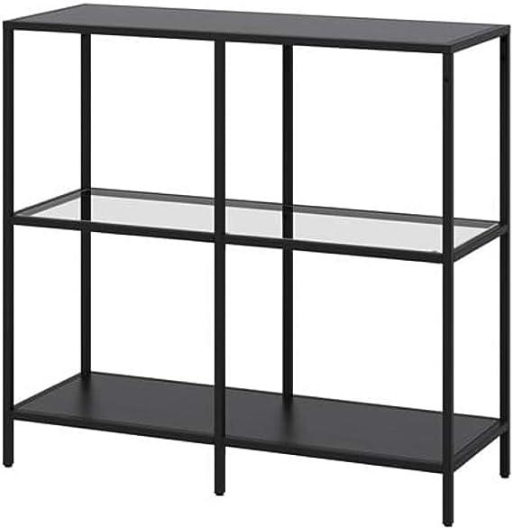 IKEA Vittsjo 903.058.03 - Estantería (cristal, 39 3/8 x 36 5/8 pulgadas), color negro y marrón