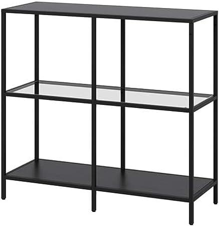 IKEA Vittsjo 903.058.03 - Estantería (cristal, 3/8 x 36 5/8 pulgadas), color negro y marrón: Amazon.es: Hogar