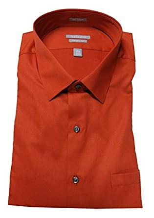 0194544fd5486 Van Heusen Fitted Athletic Solid Lux Sateen No Iron Spread Collar Dress  Shirt