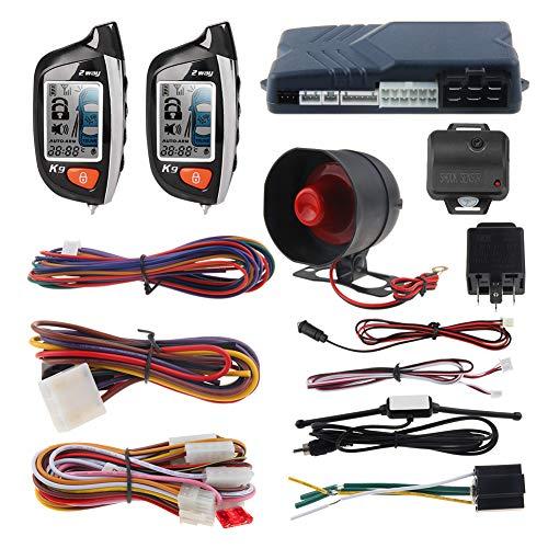 EASYGUARD 2 Way Car Alarm System EC200-K9 with LCD Pager Display Remote Engine Start Turbo Timer Mode Shock Alarm DC12V Long Remote Range