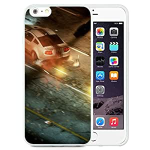 6 Plus TPU case,Need For Speed Run Helicopter Car Road Night White iPhone 6 Plus TPU cover