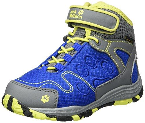 Jack Wolfskin Unisex-Kinder Portland Texapore Mid K Trekking-& Wanderstiefel Blau (Vibrant Blue)