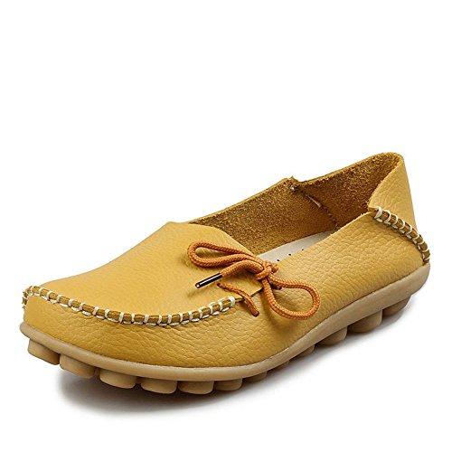 En Confort De Loafers Cuir Mocassins Conduite Ilory Couleurs Femmes 16 loisirs Plates Jaune Chaussures qxAS0wU