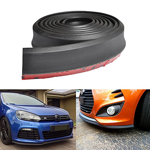 (Front Bumper Lip Fits Universal Vehicles Black Spoiler Splitter Valance Fascia Cover Guard Protection Conversion by IKON MOTORSPORTS | 1997 1998 1999 2000 2001 2002 2003 2004 2005 2006 2007 2008 2009)