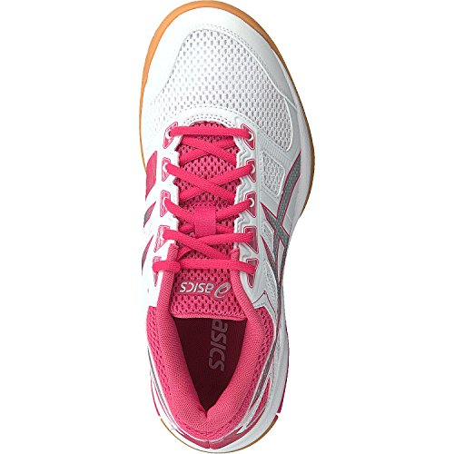 Rouge Multicolor 000 Asics Shoes 6 Flare White Multisport Gel Red Women's Indoor Silver rqxwq07v4