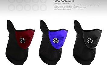 XiZi unisex Cara Mascara pasamontañas NECK WARMER frío mascara para moto bicicleta de esquí alpinismo=