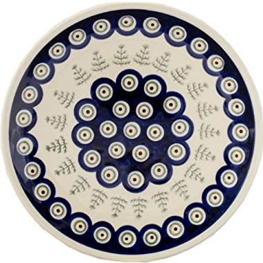 Polish Pottery Plate 7.5 Inch From Zaklady Ceramiczne Boleslawiec #Gu-814-312 Classic Pattern, 7.5 Inch Diameter