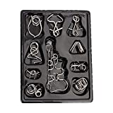 Bidlsbs Mini Metal Wire Brain Teasers IQ Puzzles Educational Intelligence Toys Assembly Disentanglement Mind Toy for Boys Girls Children Teenagers Adults Set of 10
