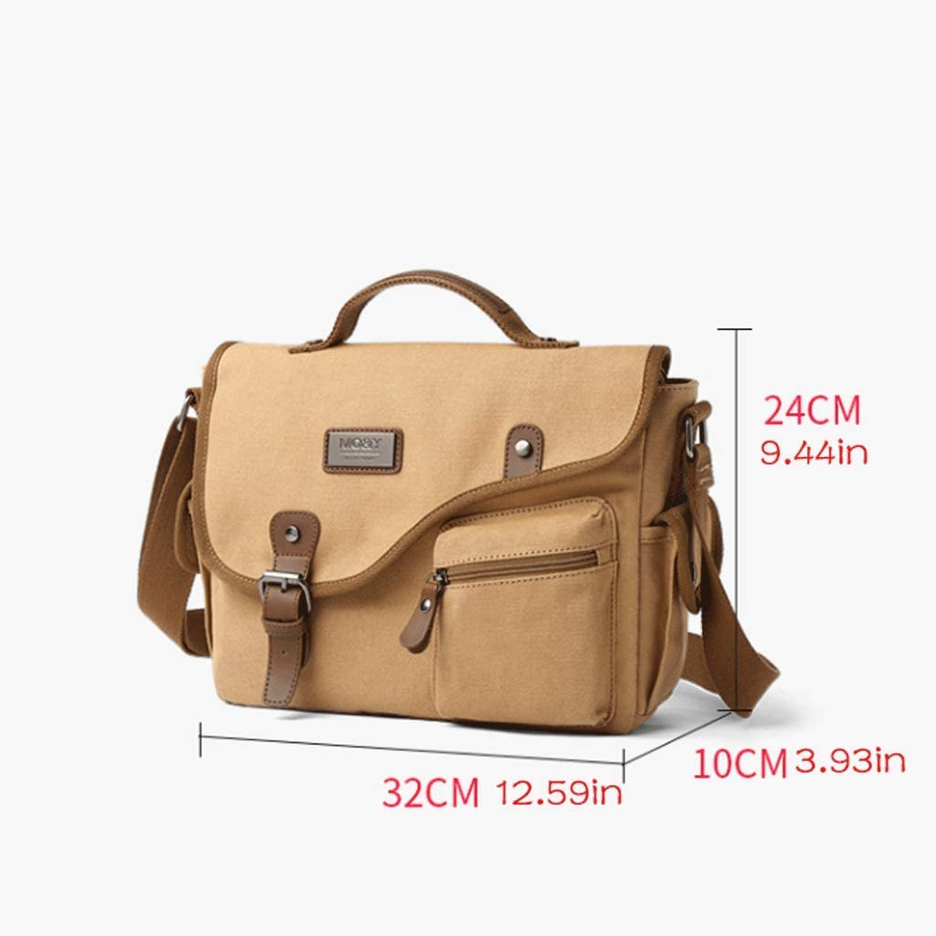 Color : 1#, Size : S RXF Mens Canvas Shoulder Messenger Bag Casual Business