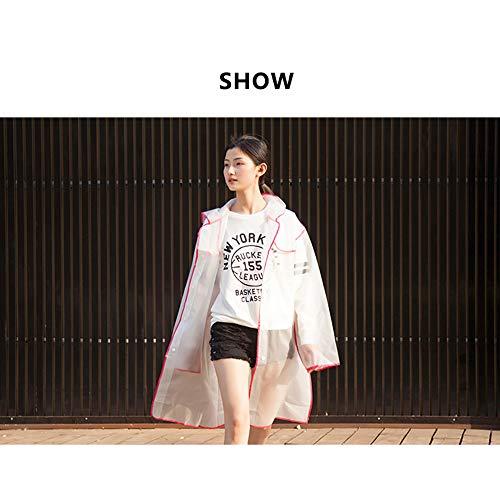 Xl De Pour Givrée Marche Voyage Single Femme Long Fashion Adulte Poncho Student Imperméable Guyuan Mâle size CXqwZZ