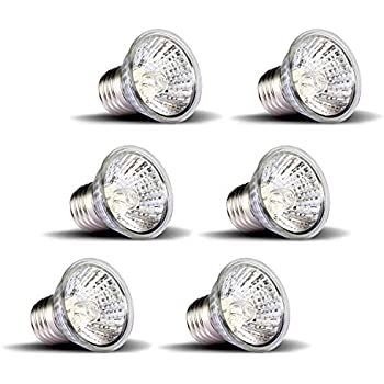 OMAYKEY 75W 6 Pack UVA + UVB Full Spectrum Sun Lamp Sunbathe Heat Lamp/Bulb/Light for Lizard Reptiles and Amphibians