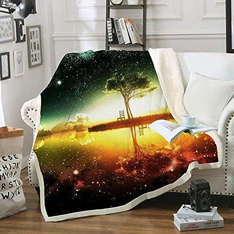 Sunset Impreso Throw Blanket Colcha para niño Niña Sofá Sherpa Manta Sofá Edredón Funda de viaje Diy 200 * 150Cm