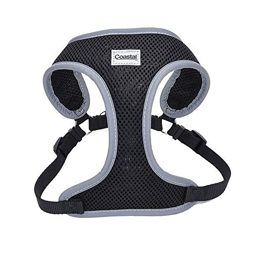 Coastal Pet Reflective Adjustable Dog Harness Black 5/8 Inch X 23 Inch