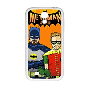 Math Man Batman White Phone Case for Samsung Galaxy S4