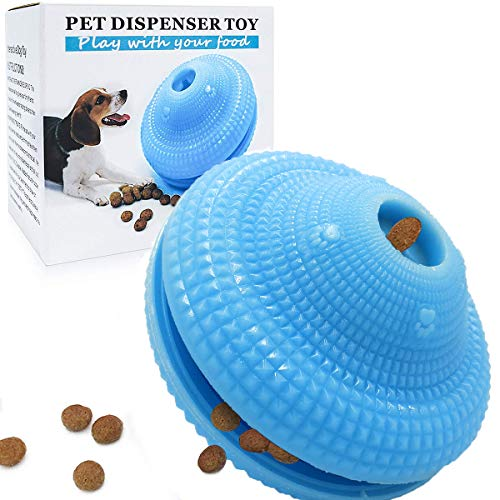 Dog Puzzle Toys, IQ Dog Toys, Dog Treat Ball, Interactive Dog Toys, Dog Teeth Cleaning Ball, Treat Dispensing Dog Toys, Non-Toxic Rubber Active Rolling Ball, Puppy Toys for Boredom