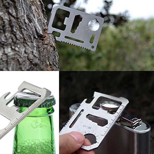 Credit Card Tool kits Survival Multi Tool Fits in Your Wallet Multitools bundle-3 for gift Aiervex