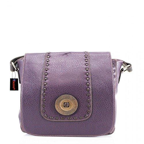 Designer Crossbody Womens Satchel Button Handbag Ladies Bag Purple Style Shoulder Messenger dwqxXqA