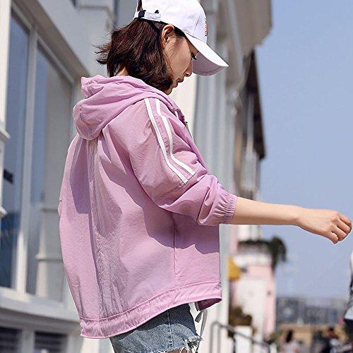 XRXY casual solare solare da Uscire A Abbigliamento semplice protezione donna Estate Camicia protezione per Scialle Turismo creativo Design Mantello design di Ufficio Cappotto sottile sciolto aria 0xrqIa0