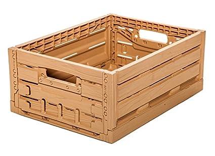 1 STK fruta caja - Almacenamiento caja madera diseño manzana caja 400 x 300 x 165 mm invitados Lando: Amazon.es: Industria, empresas y ciencia