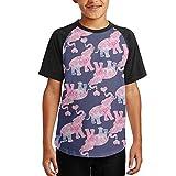 Elephant Sun India Africa Animal Youth T-Shirts