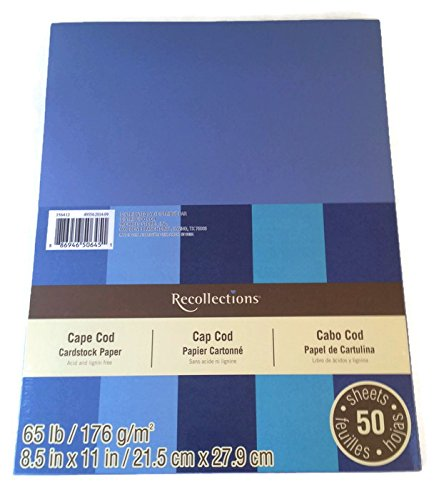 Recollections Cardstock Paper, 8 1 2 X 11 - 50 Sheets by Recollections B00S372DTS | Creative